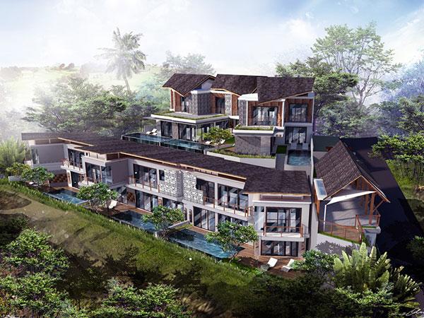 Ocean View Villas in Pecatu. Only 3 left!.