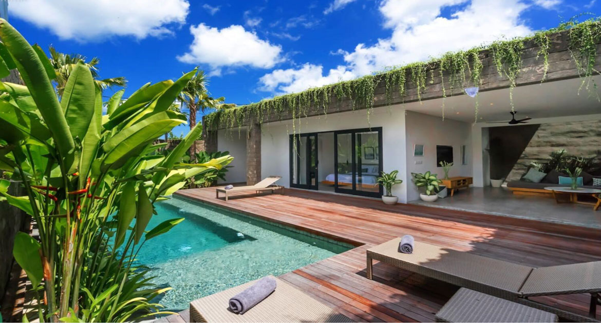 Single level villa in Brawa – Canggu – Bali. Located in a town environment